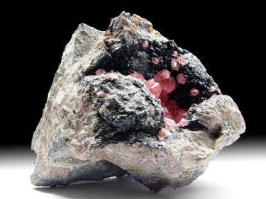 Rhodochrosit (Manganspat), Manganoxid, Calcit