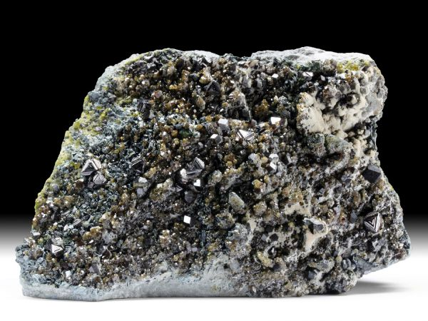 Magnetit, Andradit, Epidot, Klinochlor, Diopsid