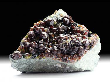 Andradit (Granatgruppe), Epidot, Klinochlor