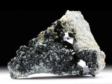 Andradit (Granatgruppe), Diopsid, Klinochlor
