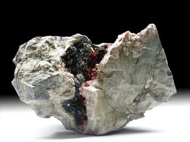 Rhodochrosit (Manganspat), Manganoxid, Quarz
