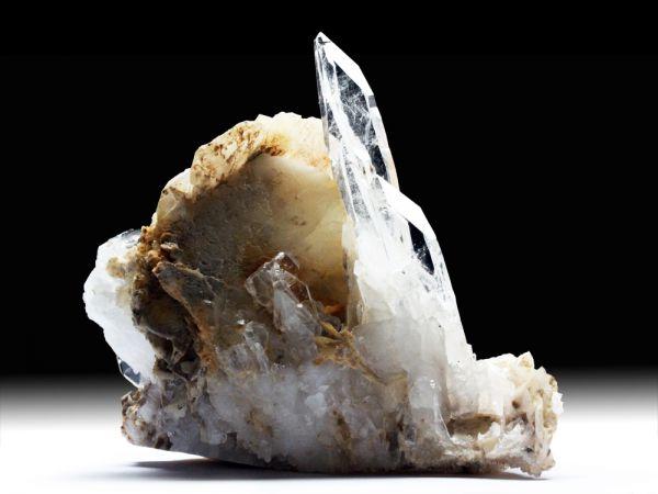 Bergkristall-Var. Fadenquarz, Calcit