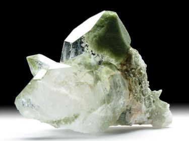 Quarz-Var. Bergkristall, Chlorit