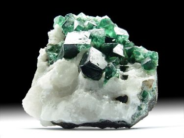 Fluorit (Flussspat), Quarz