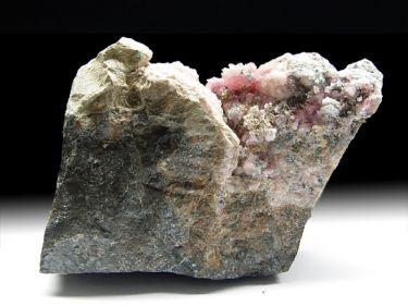 Rhodochrosit (Manganspat), ged. Silber