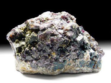 Fluorit (Flussspat), Chalkopyrit (Kupferkies)