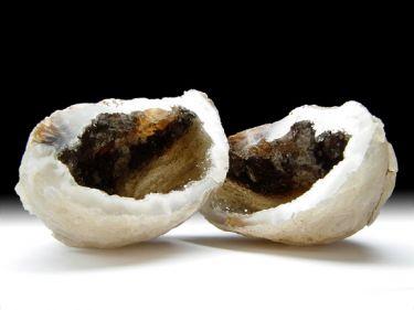 Achat-Geodenpaar