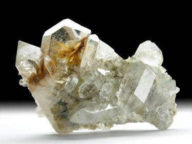 Quarz-Var. Bergkristall, Rutil