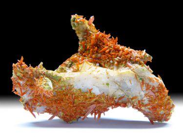 Krokoit (Rotbleierz), Pyromorphit (Grünbleierz)