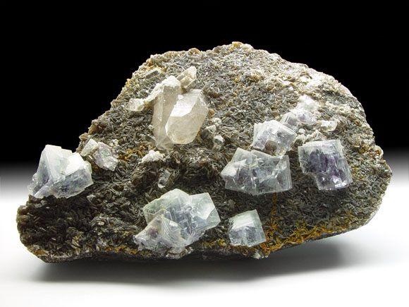 Fluorit (Flussspat), Bergkristall