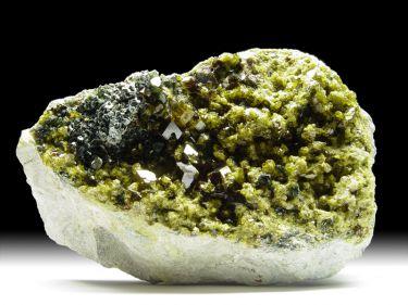 Granat-Var. Andradit, Epidot, Diopsid, Klinochlor