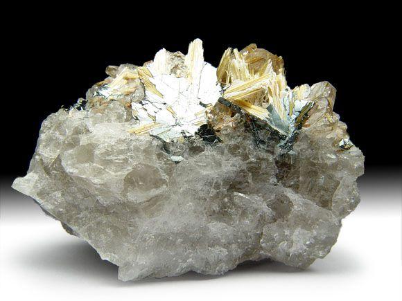 Rutil, Hämatit, Bergkristall