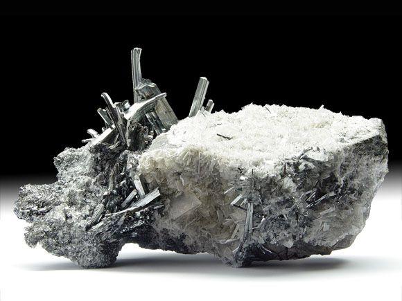 Antimonit (Stibnit), Baryt