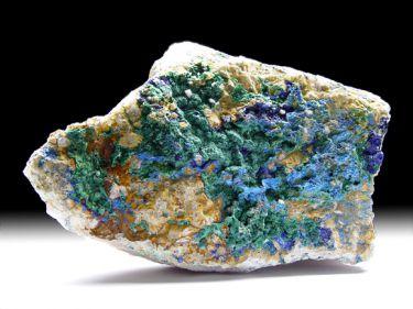 Azurit, Malachit, Fluorit