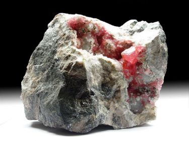 Rhodochrosit (Manganspat), Quarz