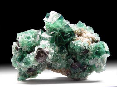 Fluorit (Flussspat), Galenit (Bleiglanz), Quarz