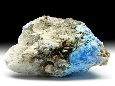 Carbonat-Cyanotrichit, Fluorit, Baryt
